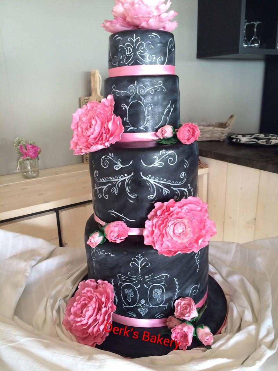 Chaclboard wedding cake